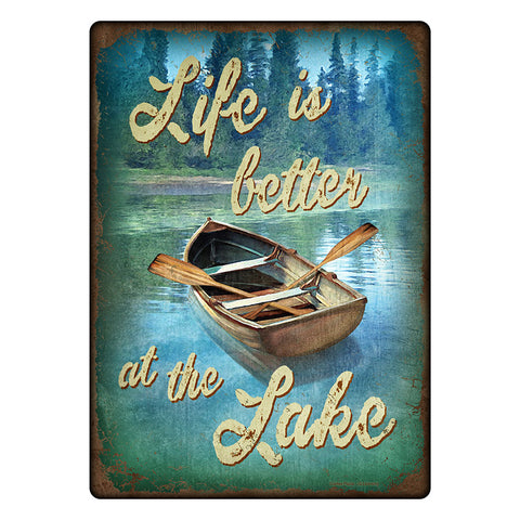 Life Is Better At The Lake Tin Sign