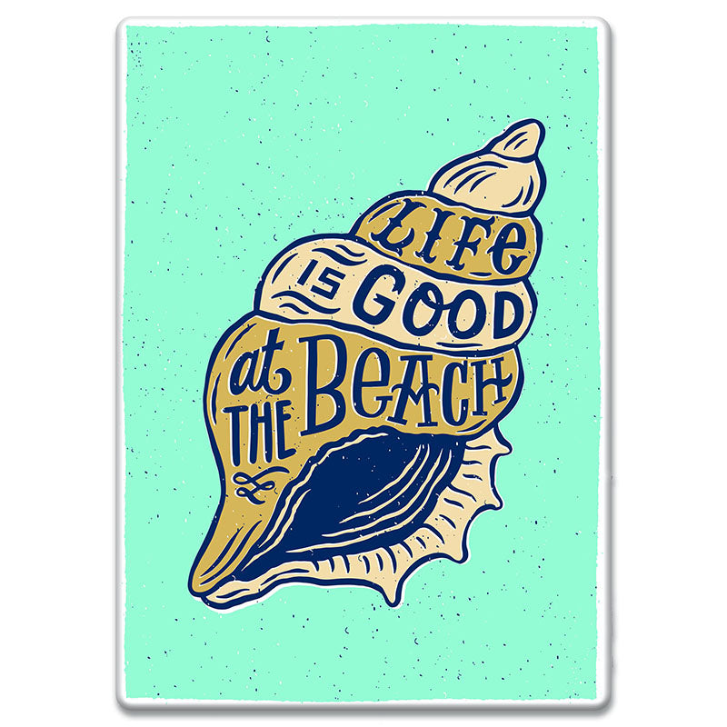 Life Is Good At The Beach Tin Sign 2640