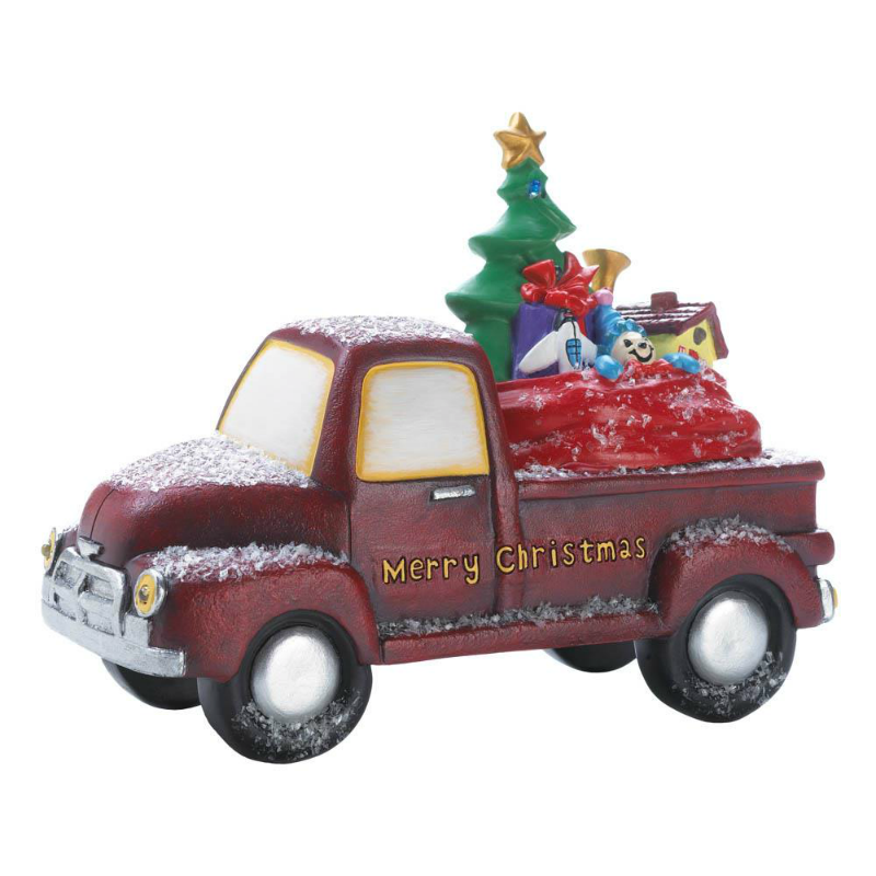Light Up Vintage Red Toy Pickup Truck 10018585