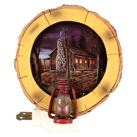 Log Cabin Lantern Night Light