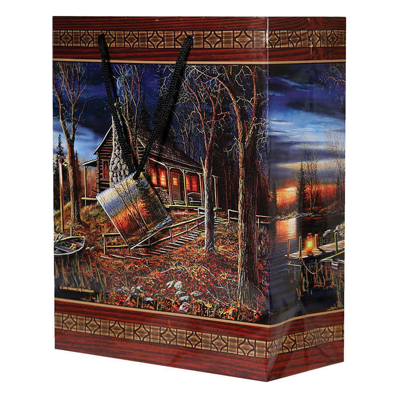 Log Cabin Medium Gift Bag 396