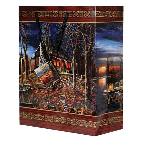 Log Cabin Medium Gift Bag