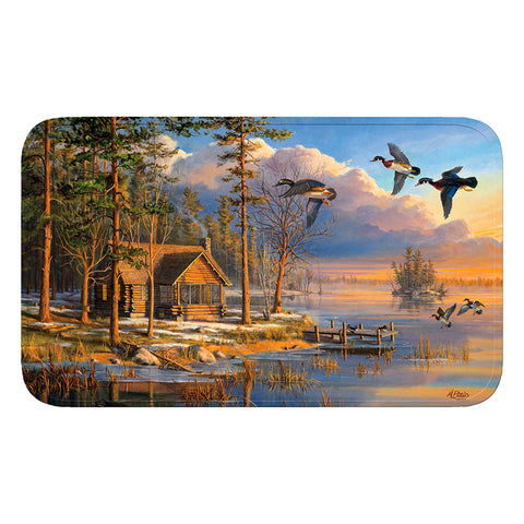 Log Cabin Memory Foam Bath Mat
