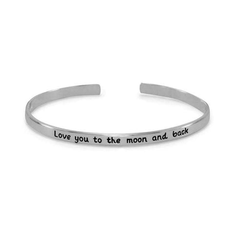Love You To The Moon And Back Cuff Bracelet