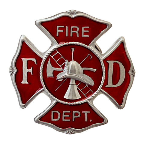 Maltese Cross Fire Department Belt Buckle