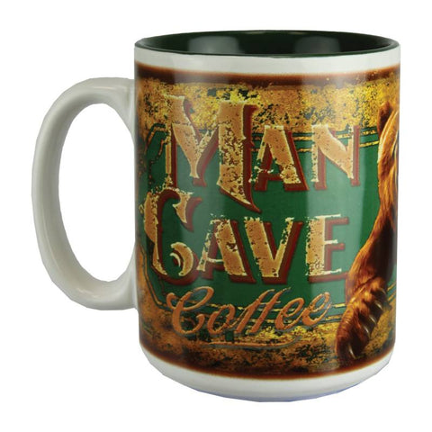 Man Cave Coffee Bear Mug