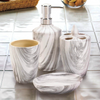 Marble Look Bath Accessory Set