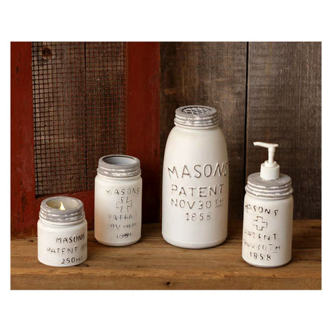 Masons Jar Candle Soap and Vase Set