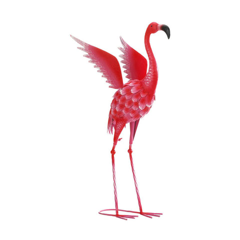Medium Flying Flamingo Metal Garden Sculpture