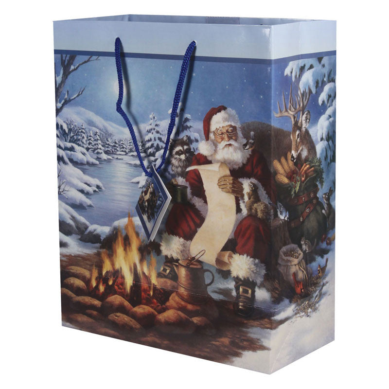 Medium Santa's Winter Christmas Gift Bag 393