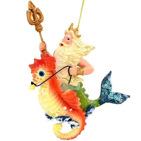 Merman On Seahorse Ornament