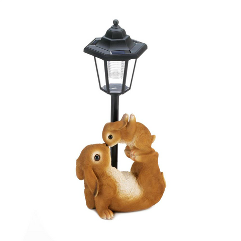 Mom and Baby Rabbit Solar Garden Lamp