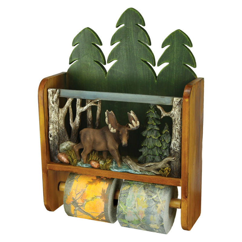 Moose Magazine Rack Toilet Tissue Holder 1982