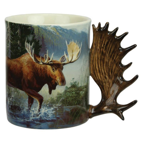Moose Scene Ceramic Beverage Mug