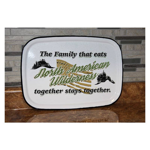 North American Wilderness Porcelain Serving Tray
