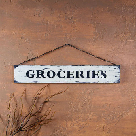 Old Groceries Sign