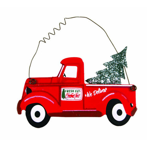 Old Red Pickup Truck Ornament