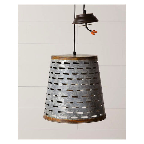 Olive Bucket Pendant Light
