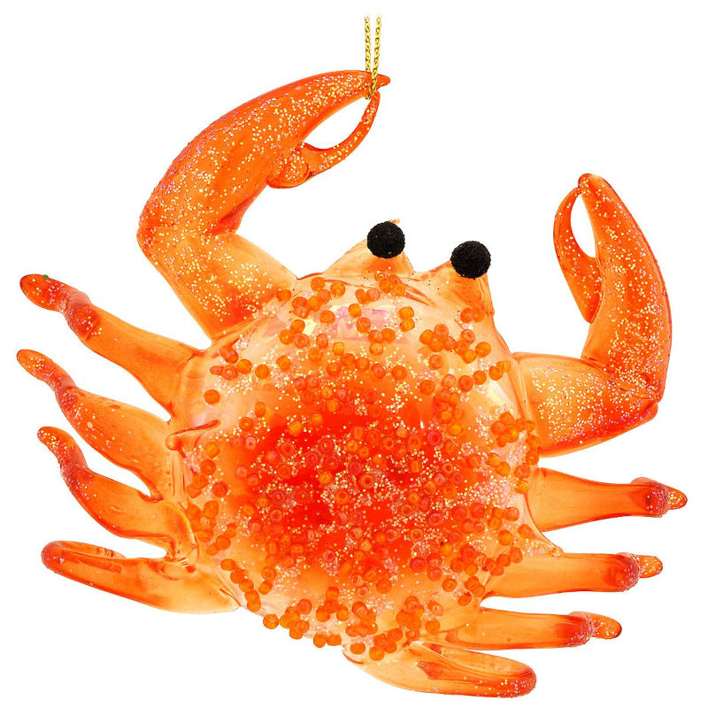 Orange Crab Glass Ornament 1161883