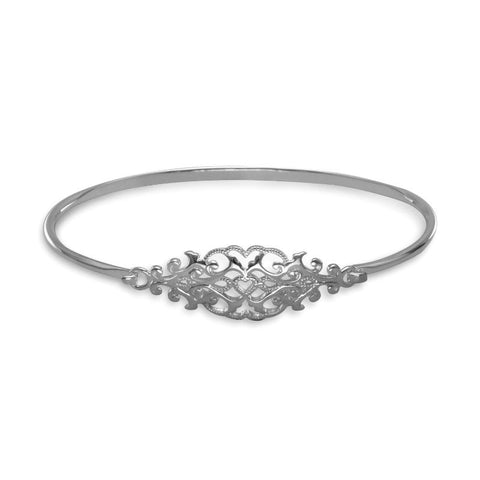 Ornate Filigree Design Bangle Bracelet