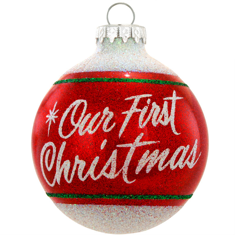 Our First Christmas Glass Ornament 1179742