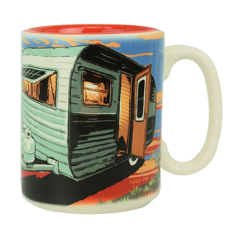 Our Happy Place Camping Beverage Mug