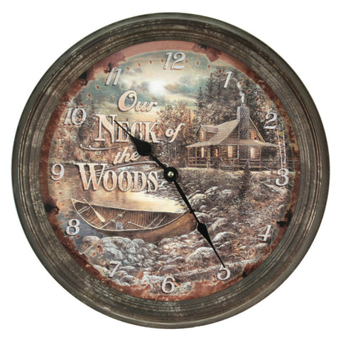 Our Neck of the Woods Wall Clock