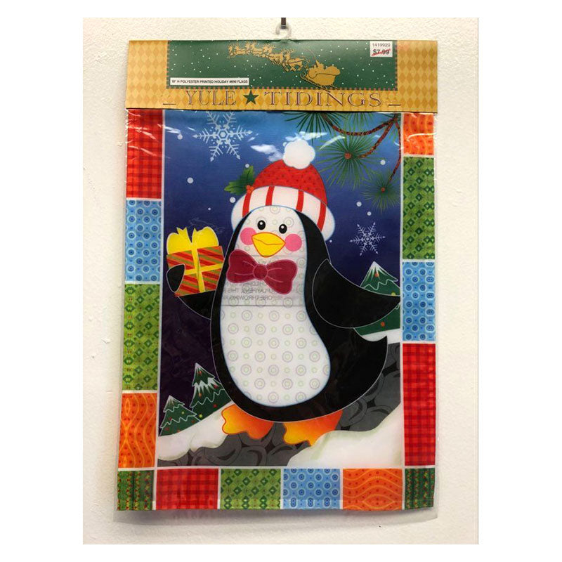 Penguin Mini Holiday Garden Flag 1419920H
