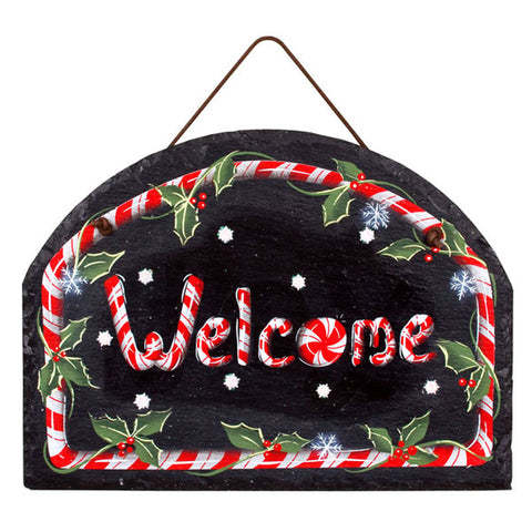 Peppermint Park Welcome Slate