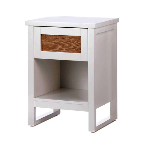 Perfectly White and Wood Side Table