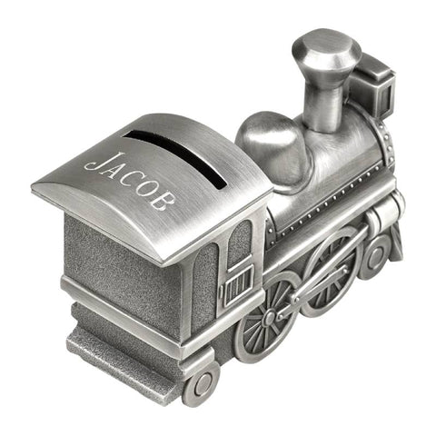 Pewter Choo Choo Train Bank