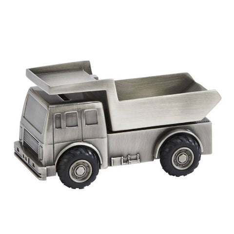 Pewter Dump Truck Bank