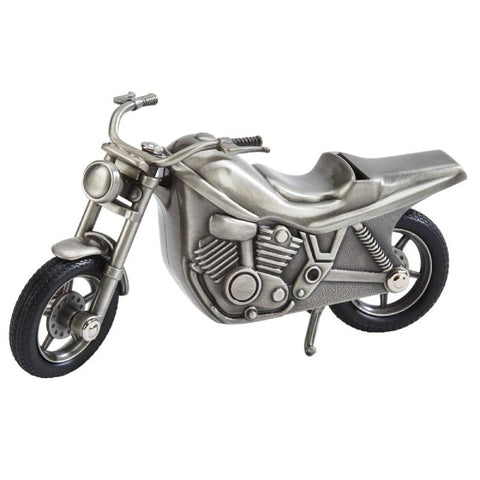 Pewter Motorcycle Bank