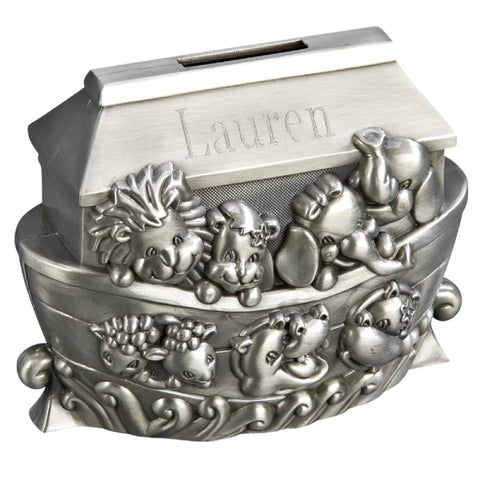 Pewter Noah's Ark Children's Bank