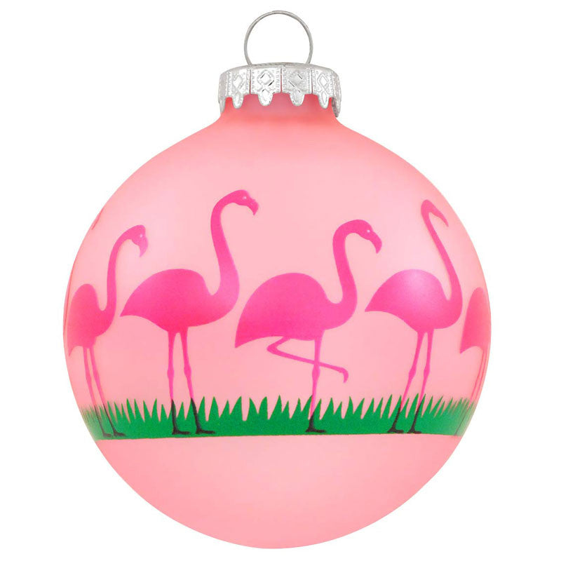 Pink Flamingos Glass Ornament 1152803