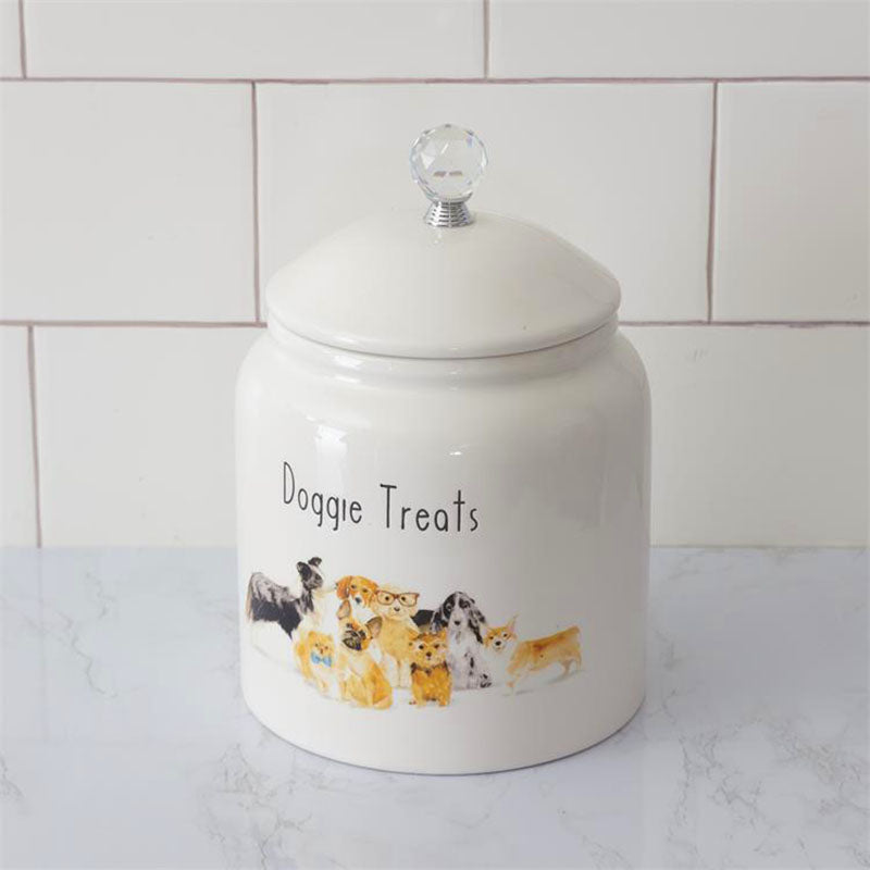 Playful Pups Doggie Treats Canister 8PT1229