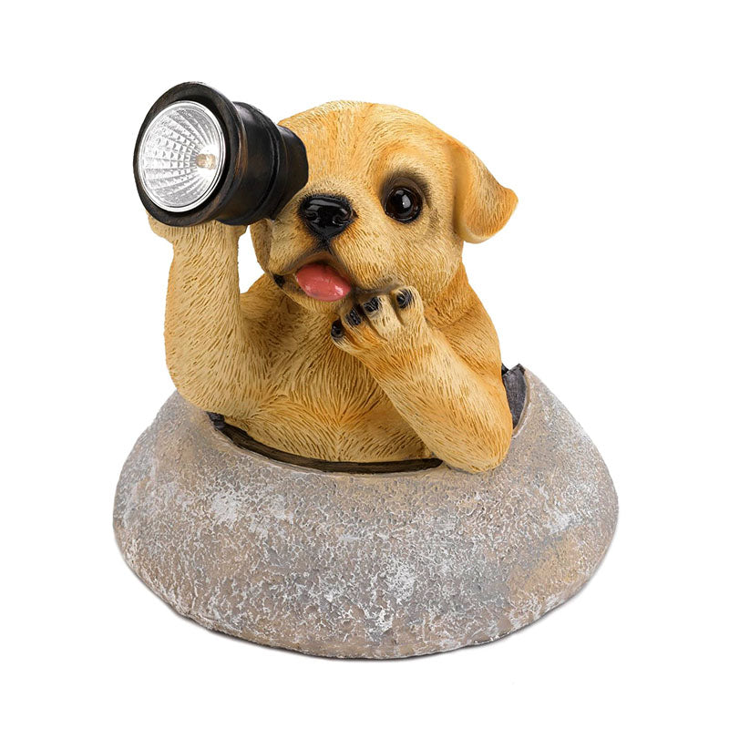 Puppy With Telescope Solar Light 10018990