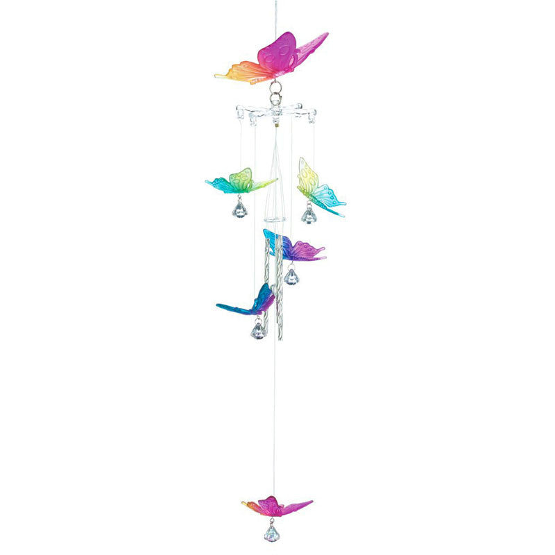 Rainbow Butterfly Windchimes 12507