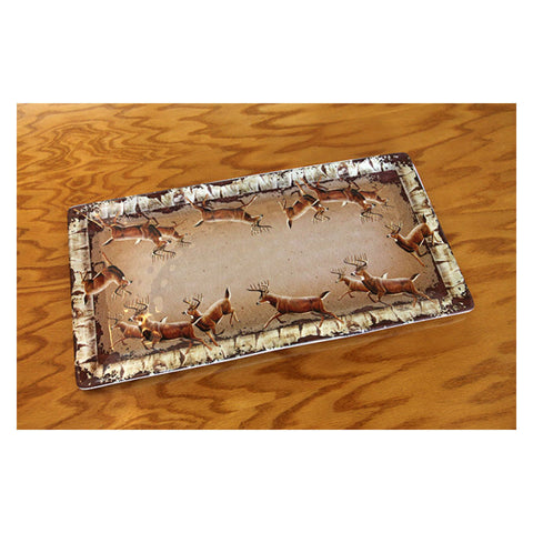 Rectangle Deer Serving Tray