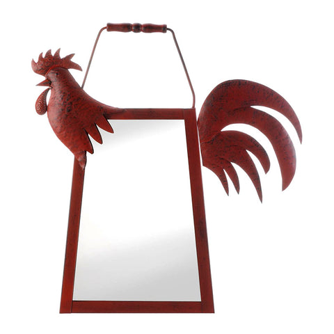 Red Rooster Wall Mirror