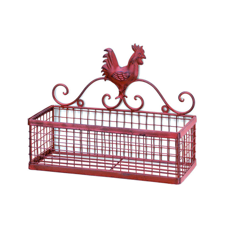 Red Rooster Wall Rack 10015877