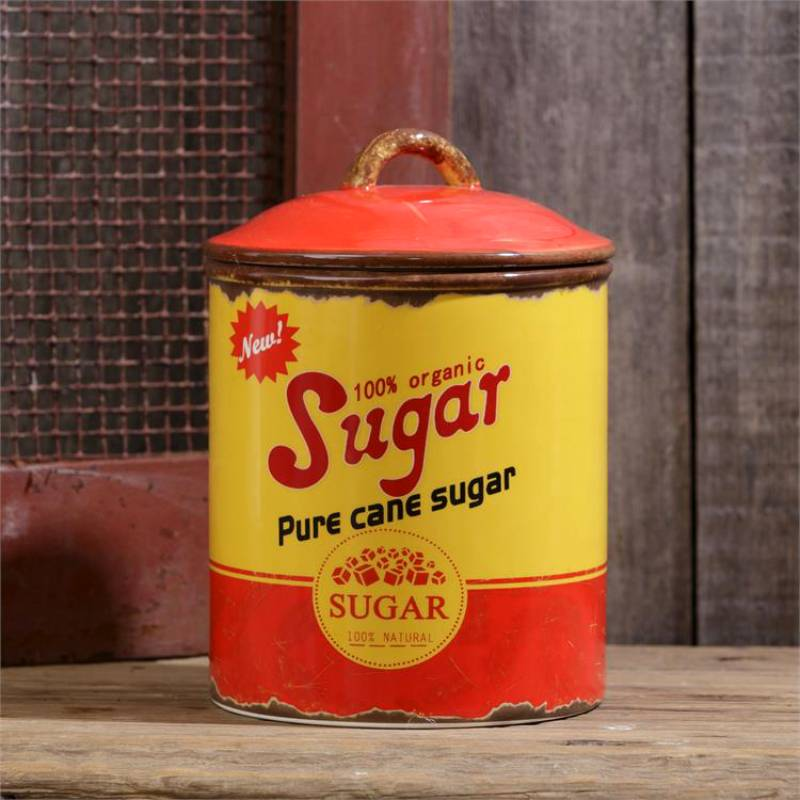 Retro Ceramic Sugar Canister 8PT987