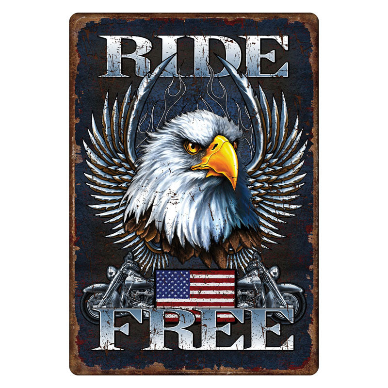 Ride Free Motorcycle Sign 1593