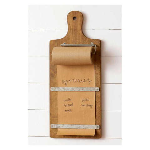 Rolled Paper Holder Cutting Board Notepad