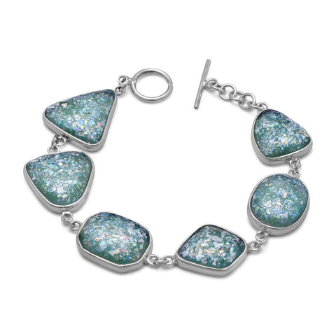 Roman Glass Toggle Bracelet