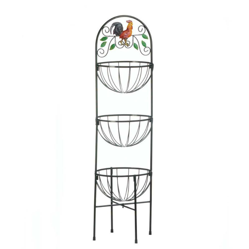 Rooster Three Tier Kitchen Baskets 10017861