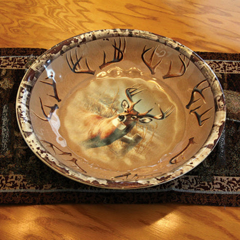 Round Deer Serving Bowl