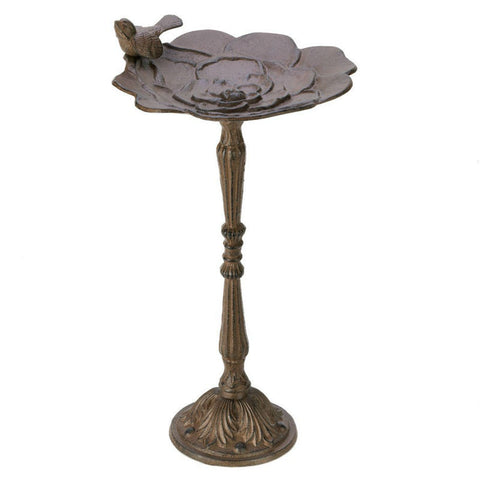 Rustic Iron Bird Bath Fountain
