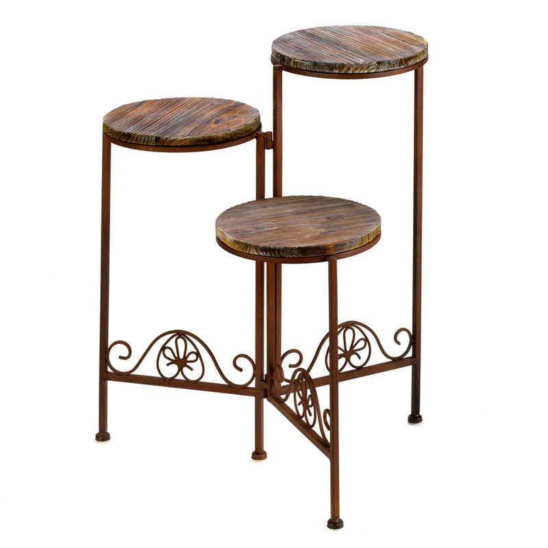 Rustic Triple Plant Stand D1091