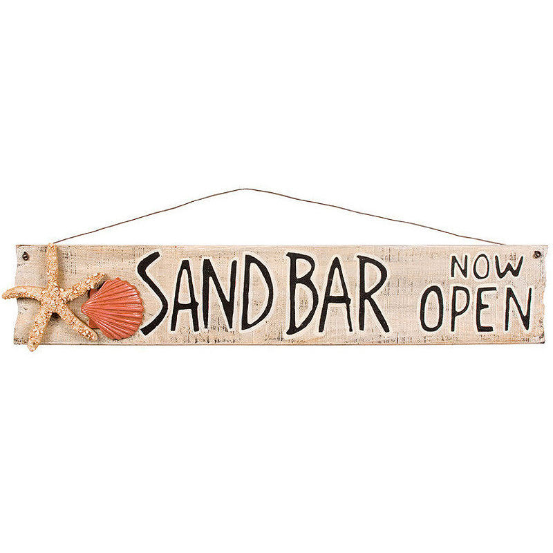 Sand Bar Now Open Sign